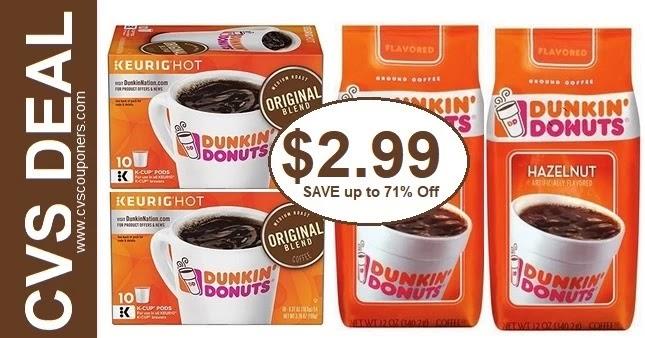 Dunkin Donuts Coffee CVS Deal 5/16-5/22