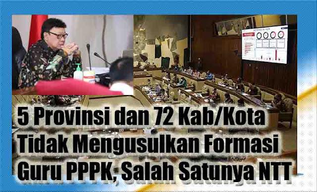 5 Provinsi dan 72 Kab/Kota Tidak Mengusulkan Formasi Guru PPPK, Salah Satunya NTT