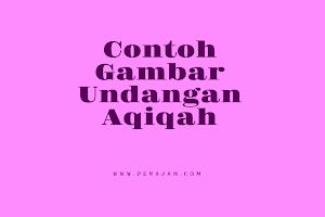 download contoh gambar undangan aqiqah anak
