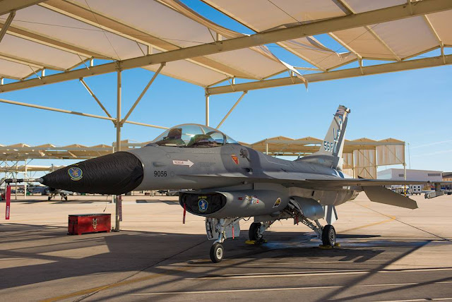 USAF F-16 heritage aircraft gets new look with vintage style
