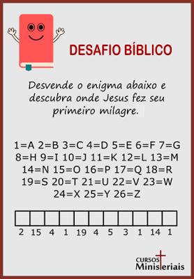 Desafio bíblico infantil