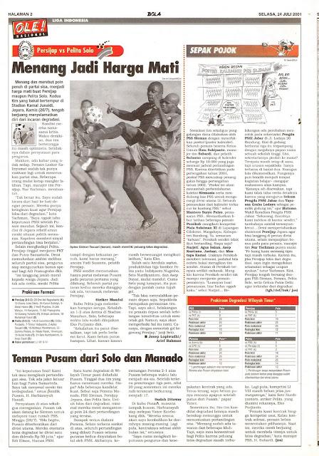 LIGA INDONESIA 2001 PERSIJAP VS PELITA SOLO