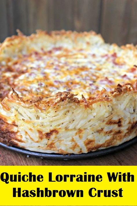 Quiche Lorraine With Hashbrown Crust