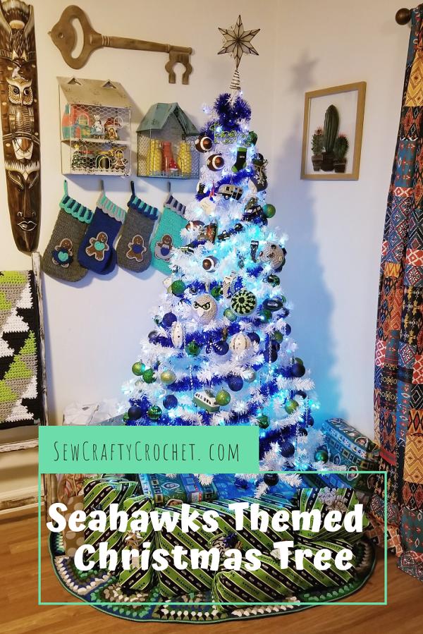 Seahawks Christmas Tree.Seahawks Themed Christmas Tree Sew Crafty Crochet