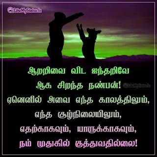 Animal Love Tamil Quote