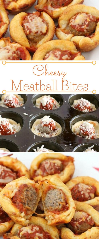 CHEESY MEATBALL BITES #healthydinner #food #eathing #familyfood #recipes