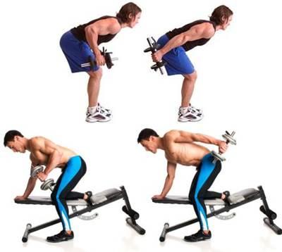 Patada triceps o triceps kick con mancuernas para flacos
