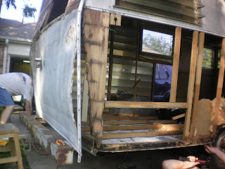 Shasta Trailer Project Finding Rot