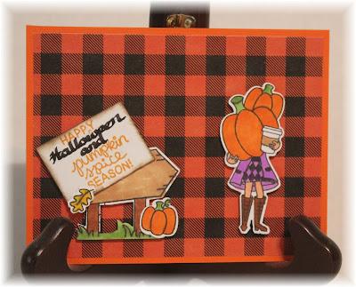 Happy Halloween & Pumpkin Spice Season by Melissa features Pumpkin Latte and Hoppy Greetings by Newton's Nook Designs; #inkypaws, #newtonsnook, #Halloweencards, #pumpkinspicecards, #cardmaking