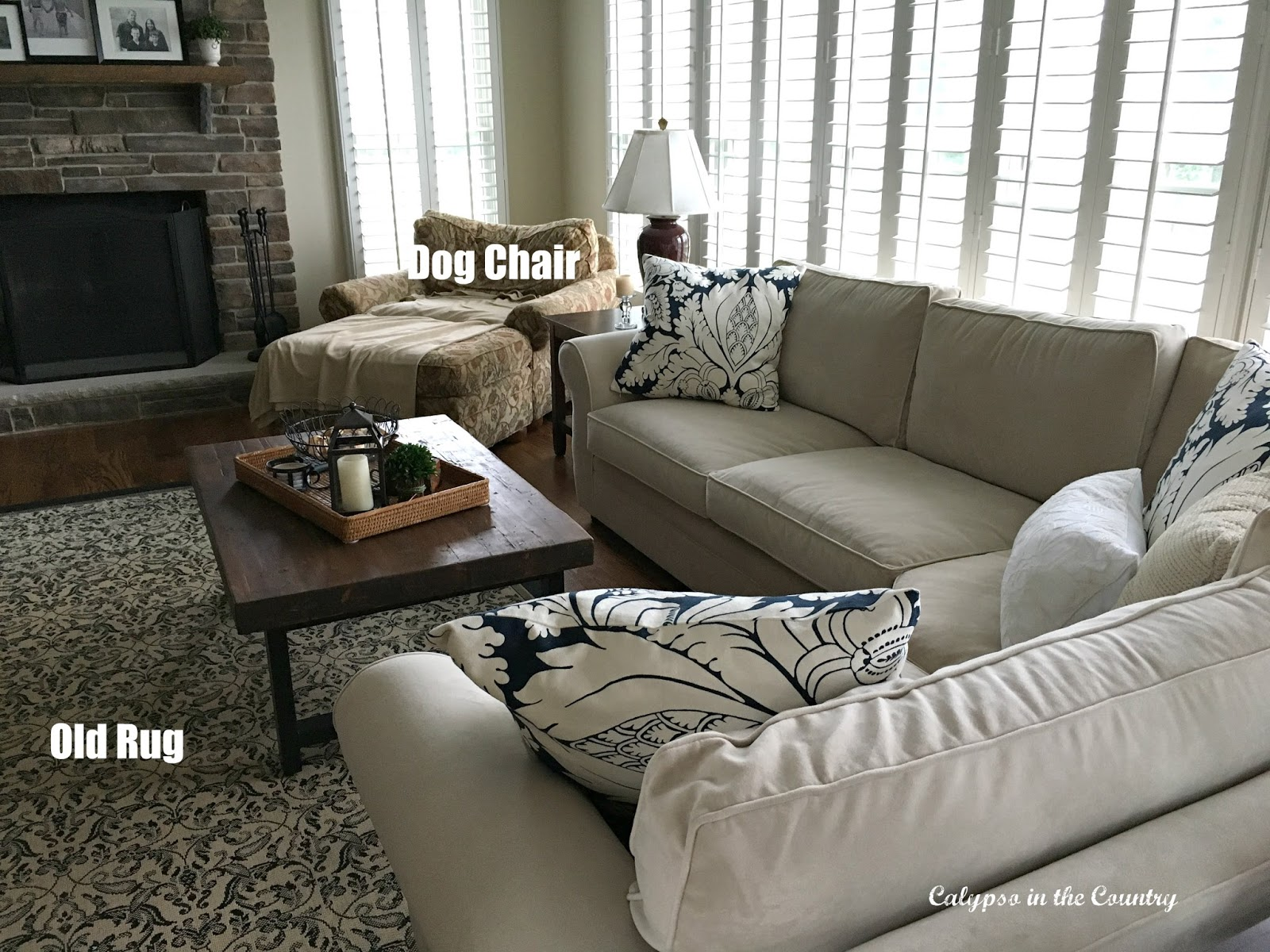 Family Room with New Sectional