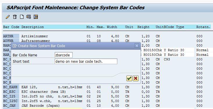 SAP Sample Programs: Bar Code for SmartForms step by step