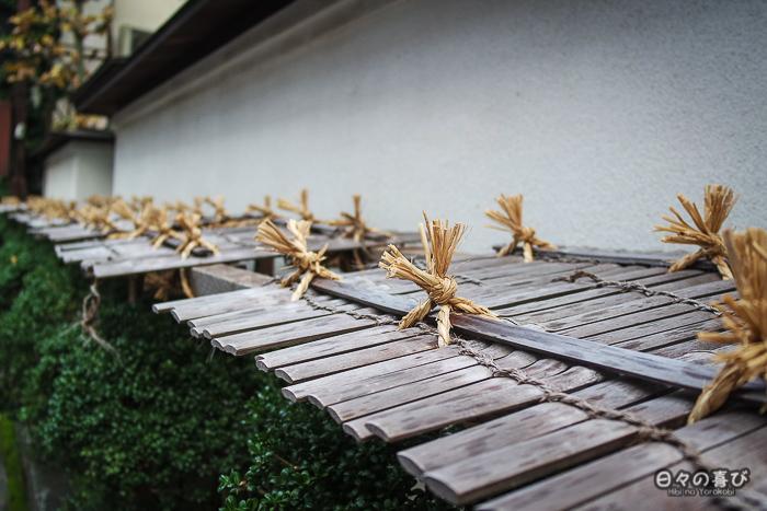 protection bambou contre la neige