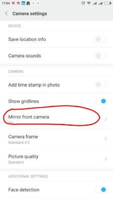 Cara Agar Hasil Selfie Tidak Terbalik Dengan Smartphone Xiaomi