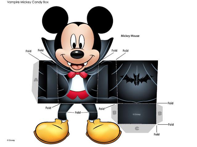 caja halloween con Mickey Mouse vampiro