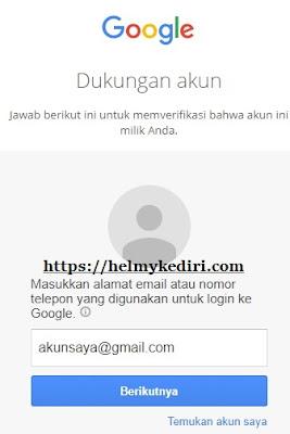 blog yang lupa kata sandi atau email