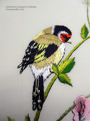 Goldfinch embroidered in Piper's Silk thread