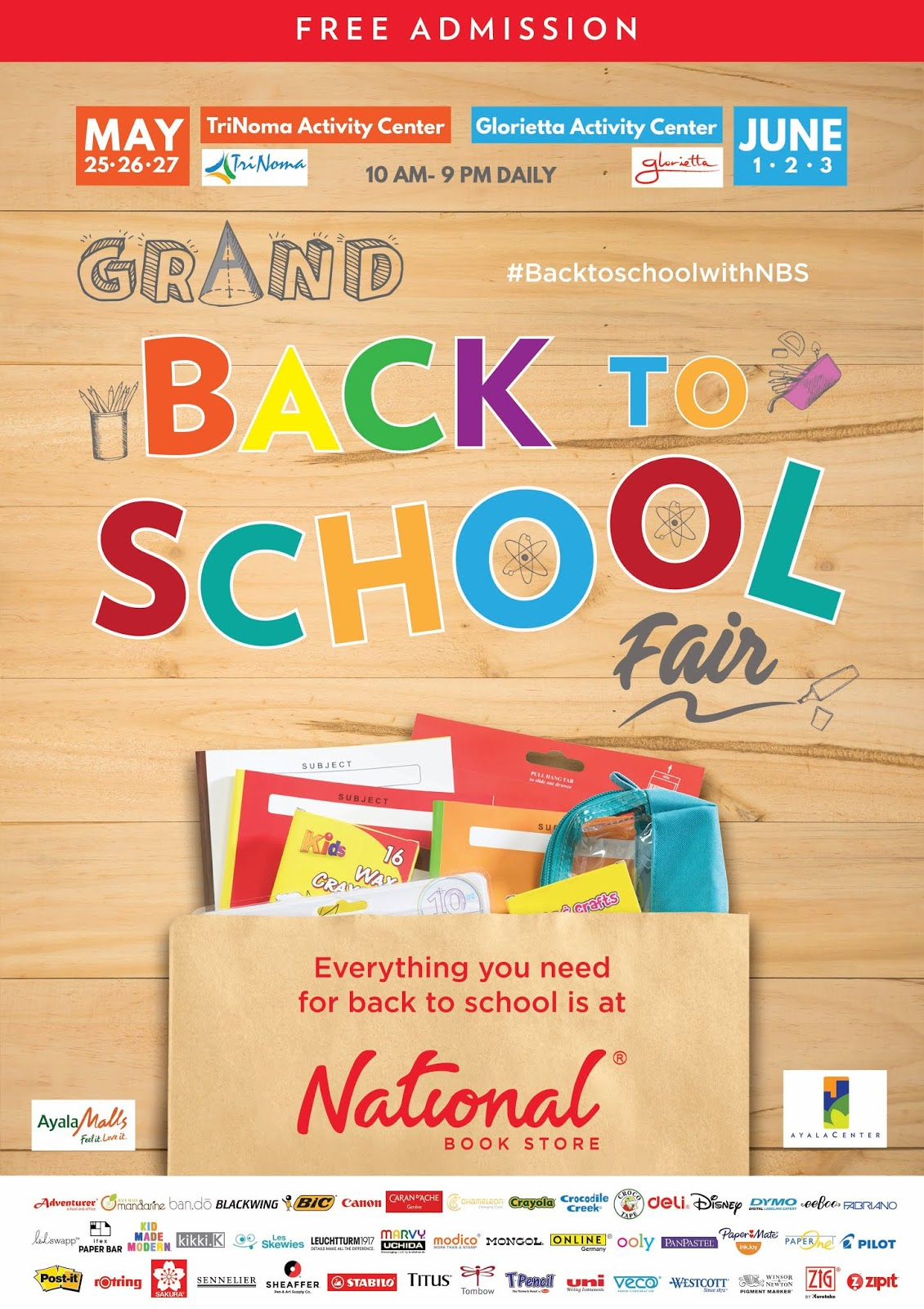 National book stores grand back to school fair national book store invites you to complete your back to school shopping at their grand back to school fair happening from may 25 to 27 stopboris Gallery