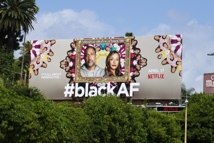 BlackAF series launch billboard