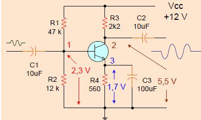 Gambar 6.48: Penguat Satu Tingkat dengan Tegangan DC Normal