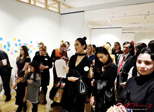 Opening night speeches, Love Letter - at 541 Art Space - Street Fashion Sydney by Kent Johnson.