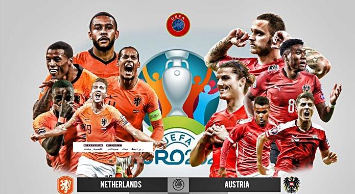 مباراة هولندا والنمسا في بطولة يورو 2020