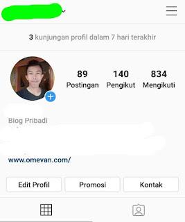 cara melihat jumlah pengunjung profil dalam 7 hari