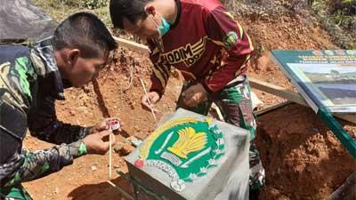 Tugu Prasasti TMMD Ke-111 Berdiri di Titik Nol Jalan Lingkar Utara