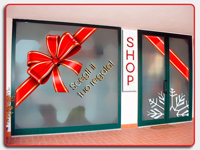 Preferenza Momogenico Energy Print: Decorazioni vetrine con adesivi per Natale! EV04