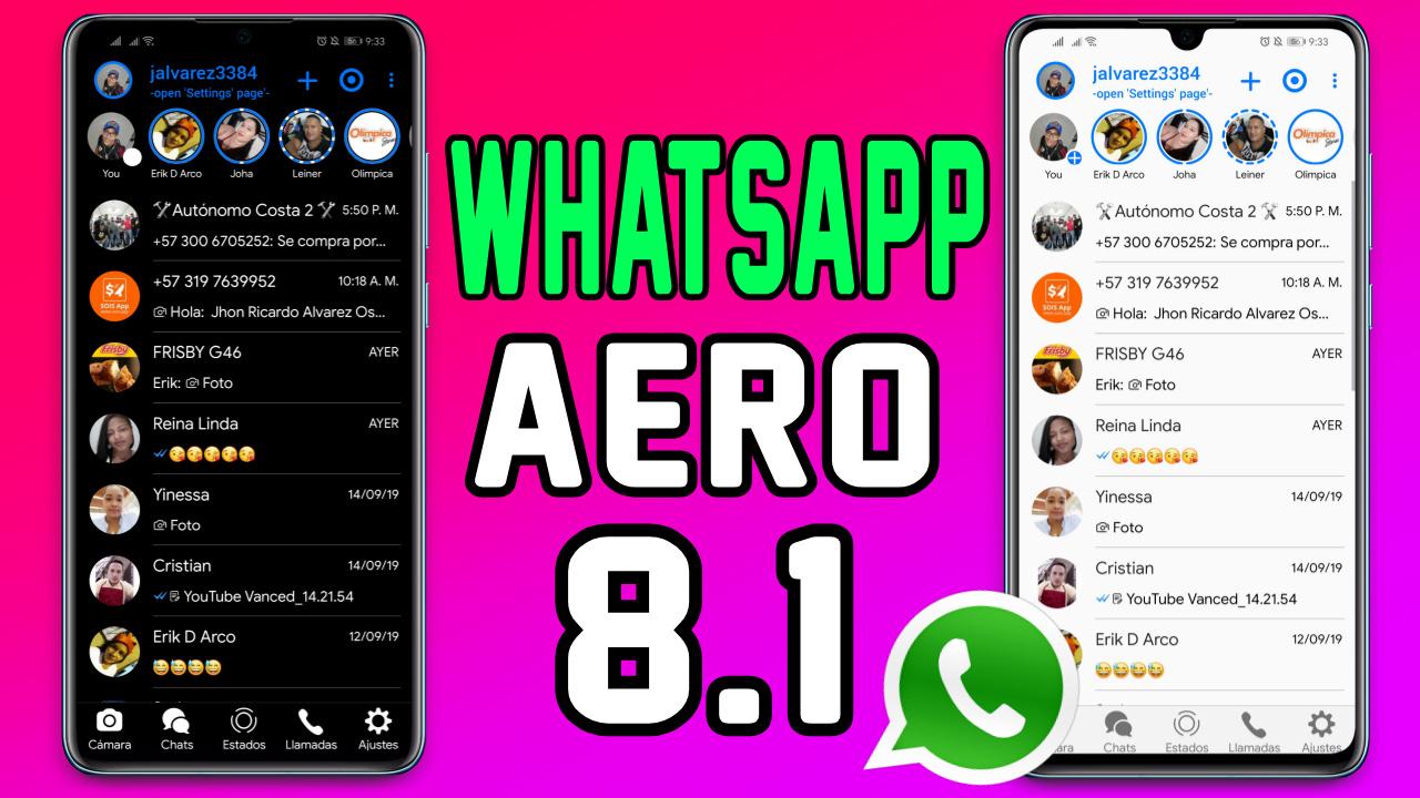 NUEVO WHATSAPP AERO 8.1 ESTILO IPHONE 2019 - DROIDTECHWEB