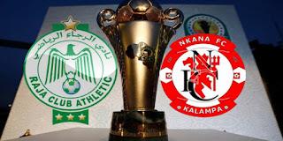 مشاهدة مباراة الرجاء ضد نكانا 17-3-2021 بث مباشر في كأس الكونفدرالية