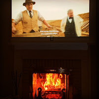 "Valentine's Day 2021 in front of Fireplace Watching ""The Dig"""