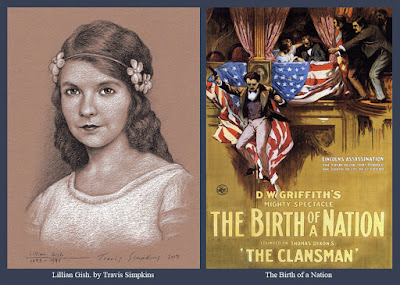 Lillian Gish. Silent Film Actress. The Birth of a Nation. D.W. Griffith. by Travis Simpkins
