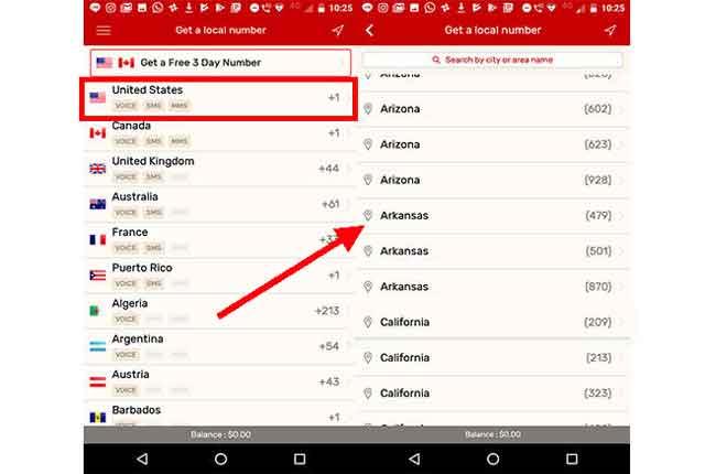 cara dapat nomor hp luar negeri dengan aplikasi