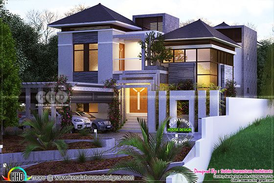 Modified elevation of this villa