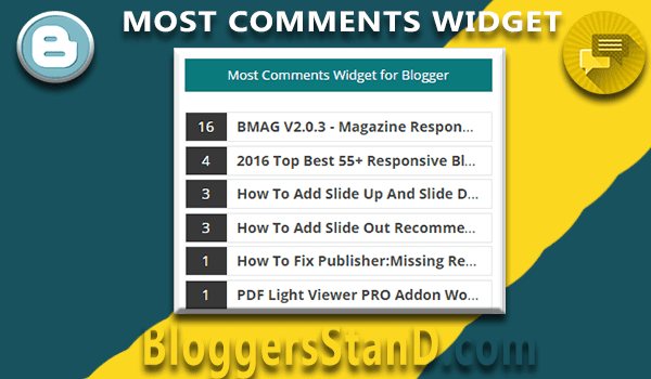 How To install create most posts Commented Widget for blogger template
