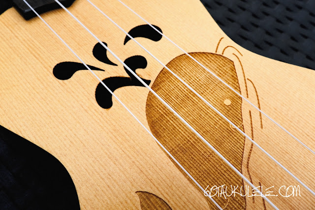 kahuna laser etched soprano ukulele decor