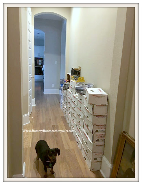 DIY Brick Project-Boxes of Brick-Hallway-From My Front Porch To Yours