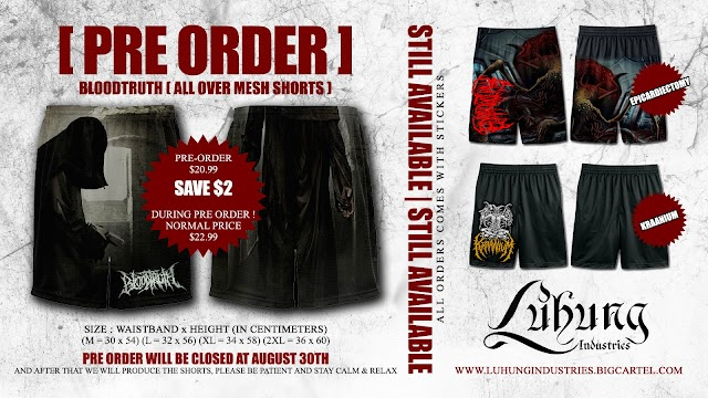 [PRE ORDER] BLOODTRUTH (ALL OVER MESH SHORTS) $20.99