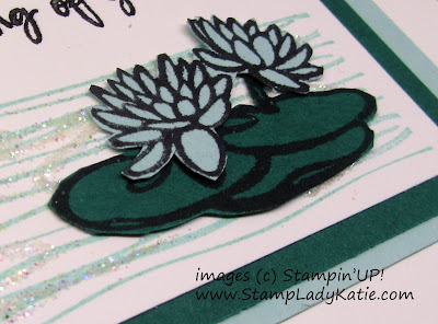 Fussy Cut Lily pads from Stampin'UP!'s Lilypad Lake stamp set by StampLadyKatie
