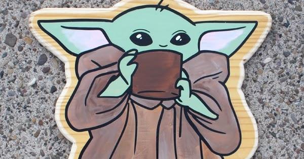 kids Baby Yoda Painting tutorial baby yoda Star Wars kids art painting diy paint ladies fun step by step art tutorial