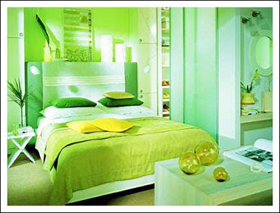 green color bedroom design ideas - Green Bedroom Design