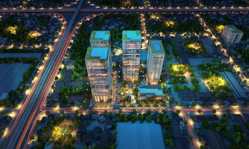 Phối cảnh tổng thể chung cư Goldseason 47 Nguyễn Tuân