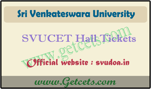 SVUCET hall tickets 2021 download, svu pgcet result date