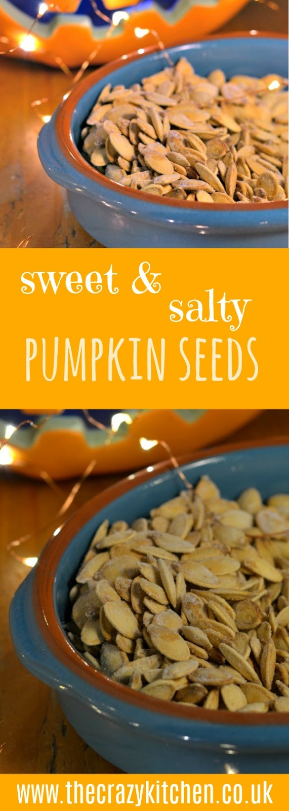The Crazy Kitchen: Sweet & Salty Roasted Pumpkin Seeds
