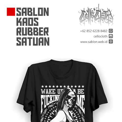 Sablon Kaos Rubber Satuan - Limited Edition For Your Artwork
