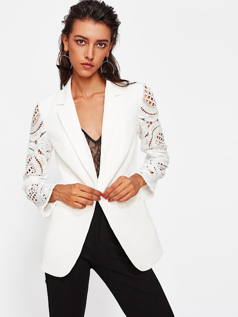 http://it.shein.com/Geo-Crochet-Sleeve-Notch-Collar-Blazer-p-378589-cat-1739.html?utm_source=unconventionalsecrets.blogspot.it&utm_medium=blogger&url_from=unconventionalsecrets