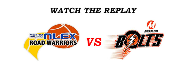 List of Replay Videos Meralco vs NLEX @ Smart Araneta Coliseum December 3, 2016