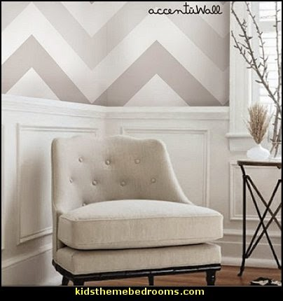 Chevron Grey Peel & Stick Fabric Wallpaper