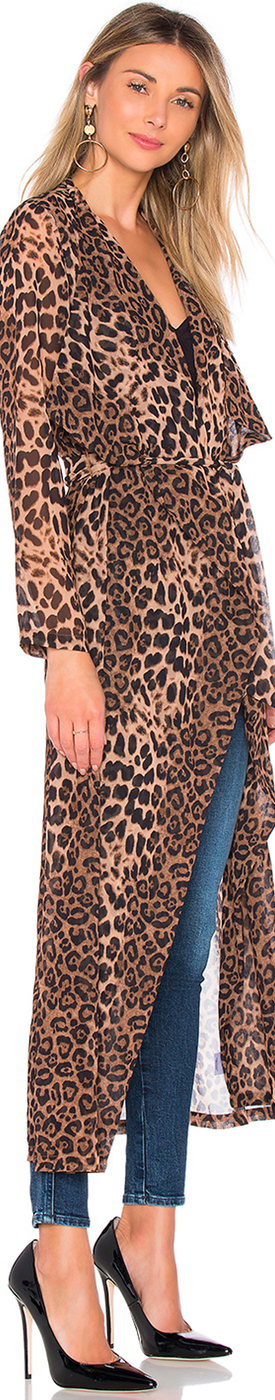 by the way. FREYA LEOPARD DRAPE TRENCH