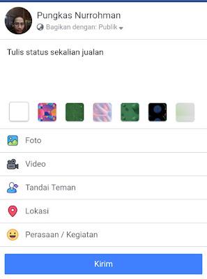 Jualan di status